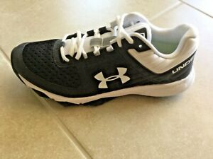 Under Armour Men's Yard Trainer Baseball Shoes Black White, New Size 9 $54.95