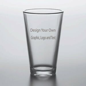 Engraved Personalized Customized Highball Beer Glass Designed to Your Specs