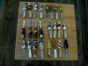 LOT OF (24) COLORFUL STAINLESS STEEL CHEESE SPREADER KNIVES~NICE VARIETY!