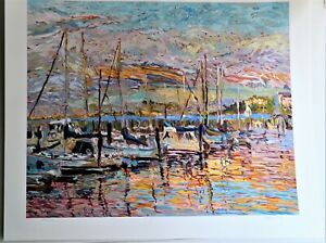 MARCO SASSONE 1942 ORIGINAL SERIGRAPH SIGNED NUMBERED TITLED PIER THIRTY NINE $680.00