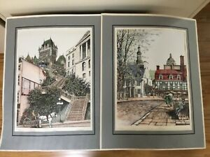 TWO COLOR LITHOGRAPHS ONE CHATEAU FRONTENAC AND MUSEE DE CIRE SIGNED UNFRAMED $5.99
