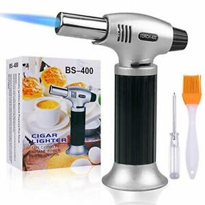 Refillable Kitchen Blow Torch Lighter Culinary Cooking Torch with Safety Lock