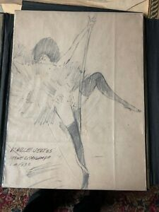 MARCEL VERTES Hungarian French Lithograph Paris Young Girl On Swing 1930 $129.00