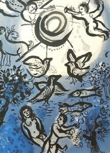 MARC CHAGALL BIBLE quot;Creationquot; HAND NUMBERED LIMITED EDITION LITHOGRAPH M234 $225.00