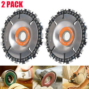 2* Grinder Disc Tooth Fine Chain Saw 4 Inch Angle Carving Culpting Wood Plastics