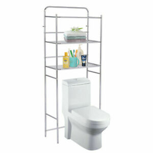 3 Tier Bathroom Towel Rack Shelf Standing Toilet Storage Space Saver Steel 60