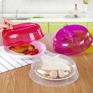 Microwave Plate Cover Lid Food Splatter Guard Dish Air Vent Steam Kitchen Tools