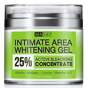 Intimate Whitening Cream - Made in USA Skin Lightening Gel for Body, Face, and -