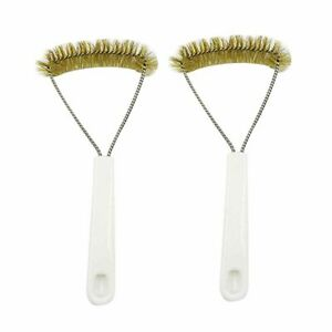 2Pcs BBQ Grill Brush Cleaner Stainless Steel Wire Cleaning Scraper Tool Useful