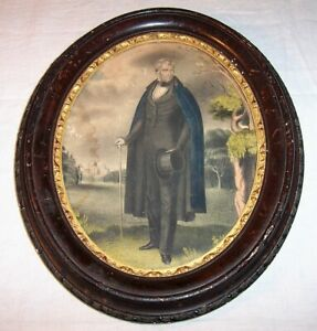 ca. 1841 Antique Currier Lithograph William Henry Harrison 9th US President $175.00