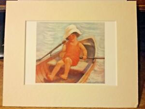 Portal Publications 1988 Afternoon Row Jess Smith Lithograph 8x10 100 ML4095  6 $12.00
