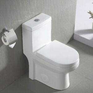 DeerValley Modern Toilet Small One Piece Toilet Compact Dual Flush With Seat $199.99