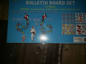 DrSeuss 57pc Bulletin Board Set Board Cut Outs LEARNING IS THE THING TO DO