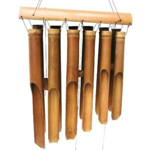 Cohasset Gifts 135 Cohasset Plain Antique Double Bamboo Wind Chime Natural Woo $68.00