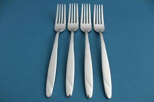 4 Salad Forks Oneida RISOTTO 18/10 Stainless Satin Handle NEW 6 3/4