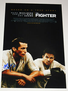 MELISSA LEO SIGNED AUTOGRAPHED THE FIGHTER 12X18 PHOTO POSTER BALE WAHLBERG $125.00