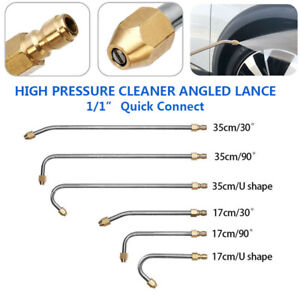 High Pressure Washer Gutter Cleaner Rod Nozzle For Lance Wand 1 4 Quick Connect $14.33
