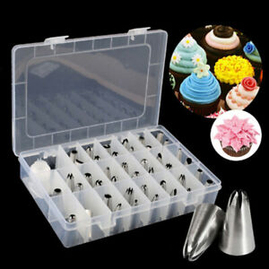 42Pcs Durable Large Icing Piping Nozzles Pastry Stainless Steel Tips HO