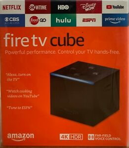 Amazon Fire TV Cube 2nd Gen 16GB 4K with Voice Remote Black NEW SEALED