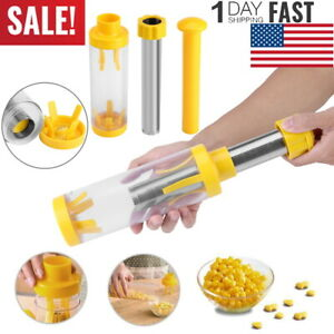 Corn Peeler Thresher Cob Kerneler One-Step Stripper Remover Kitchen Salad Tool