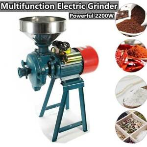 2200W 110V Electric Grinder Feed/Flour Mill Cereals  Grain Corn Wheat Wet