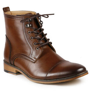 Brown Men#x27;s Lace Up Cap Toe Formal Dress Casual Fashion Oxford Boot