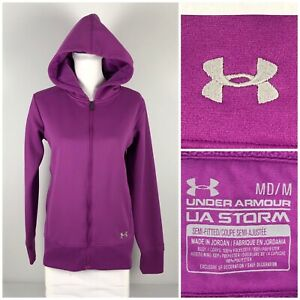 Under Armour Womens Medium Armour Fleece Storm Full Zip Hoodie Style 1232480 $34.58