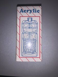 Acrylic Salt Shaker and Pepper Mill Clear. New In Box! Vintage!
