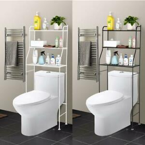 3 Tier Over Toilet Bathroom Space Saver Metal Towel Storage Rack Organizer