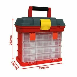 Fishing Tools Box Portable Plastic 4 Layers Fishing Lures Storage Accessory Case