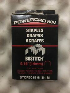Stanley Bostitch Powercrown Staples Refill 9 16quot; 14mm pkg of 1000 $6.77