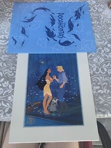 Disney Exclusive Commemorative Lithograph 1995 Pocahontas OOP Matted Gold Stamp