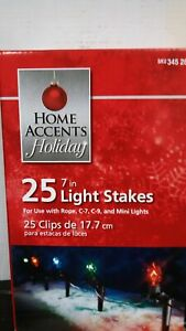 Home Accents Holiday Universal 7 in. Light Stakes 25 Count $7.49