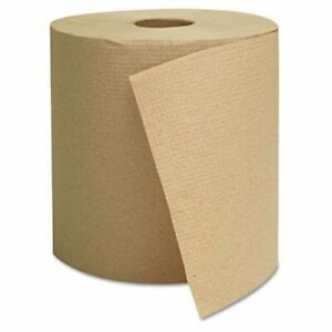 GEN 800 ft Brown Hard Roll Paper Towels 6 Rolls Carton GEN1825