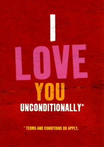 Word up! BrainBoxCandy Card I love you unconditionally *Terms & Conditions apply