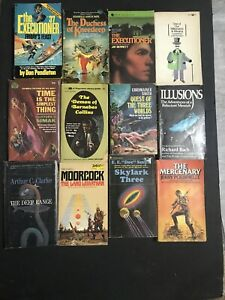 Vintage Science Fiction Fantasy Novels Paperbacks Lot of 12