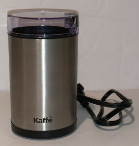 Electric Coffee Grinder by Kaffe Stainless Steel 2.5 oz Capacity with On/off