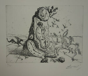Limited edition etching Surrealism Soft Watch signed Salvador Dali w DOCS