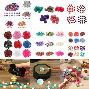 100pcs Vintage Sealing Wax Beads Grains DIY Seal Stamp Wedding Envelope Gifts