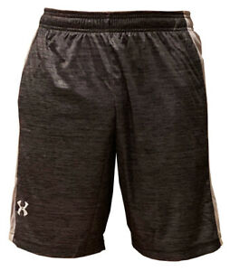 Under Armour Heat Gear Men's Athletic Basketball Shorts Charcoal Light Gray L $15.99
