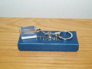 TITANIC MUSEUM SOUVENIR KEYCHAIN Etched Inside Lights Up w box RMS