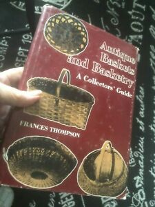 Vtg 1977 ANTIQUE BASKETS BASKETRY Collector Guide BOOK HC Frances Thompson $16.75
