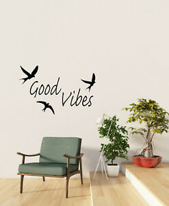 Vinyl Wall Decal Good Vibes Positive Words Inspiration Meditation Sticker 4290ig