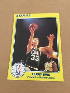 LARRY BIRD 1985 STAR NBA COURT KINGS 5X7 # 18 SUPERS BOSTON CELTICS YELLOW