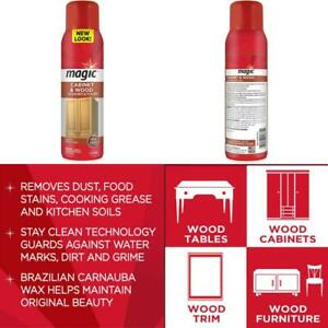Magic Wood Deep Cleaner And Polish - 17 Ounce - Heavy Use Wood Furniture Cabinet