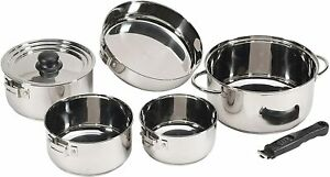 Heavy Duty 7-Piece Stainless Steel Triple-Ply 2.0 mm Aluminum Clad Cookware Set