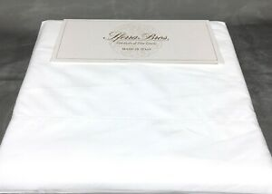 White QUEEN PERCALE Sheet Set 500TC 100% EXTRA LONG STAPLE Cotton Sferra