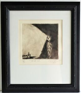ORIGINAL  ETCHING SIGNED NUMBERED SURREALIST ART TITLED HE FEEL AND  $44.00