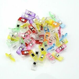 Plastic Mini Clips Wonder Sewing Holder Clamps Knitting Crochet Tool 50Pcs Clip $8.33