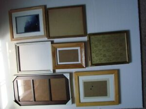 Vintage Wood Picture Frame Lot of 7 Assorted Sizes $39.95